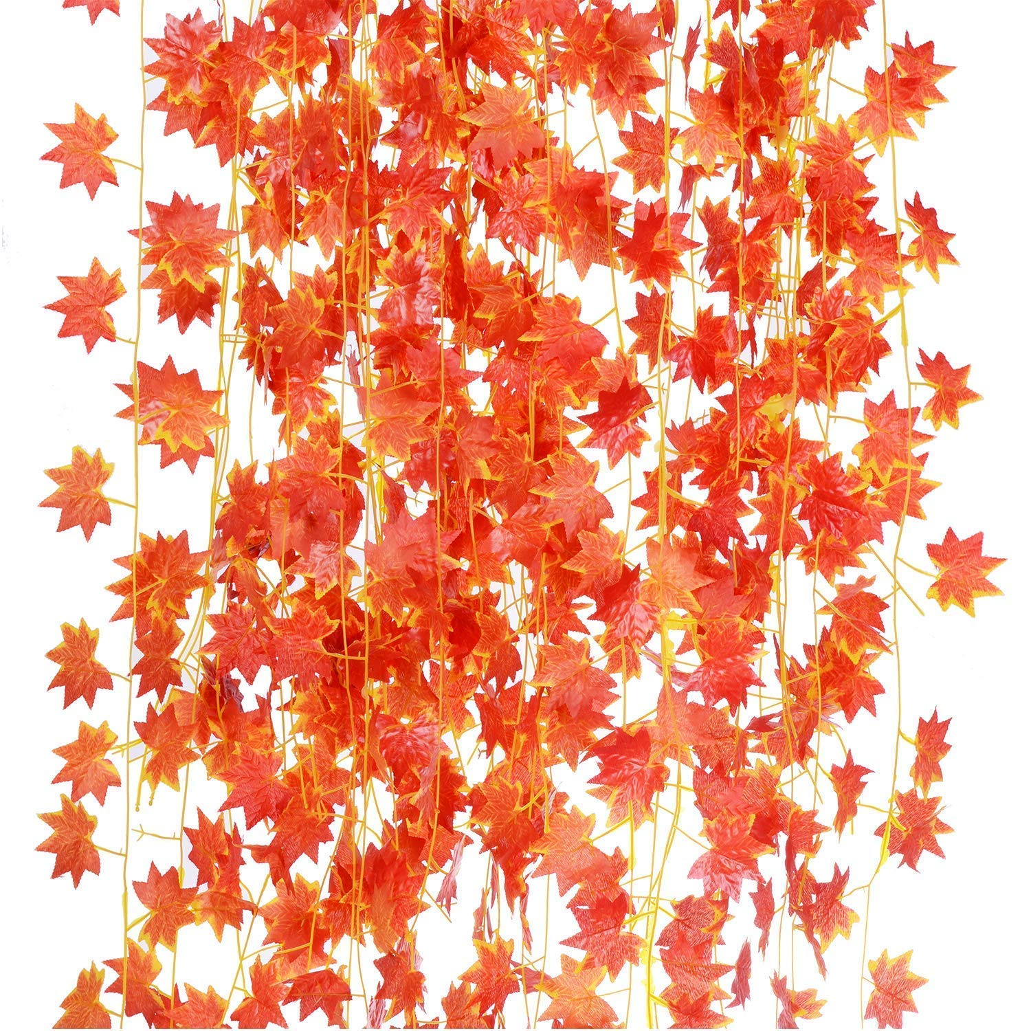 Artificial Ivy Red Maple Leaf
