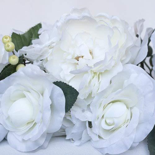 Cream Silk Flowers Swag
