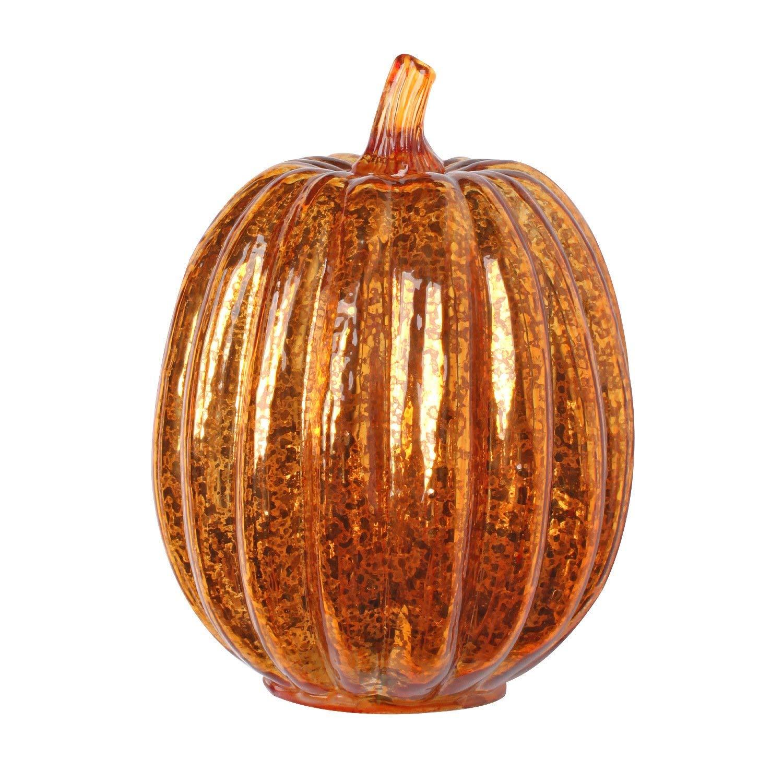 Glass Lighted Pumpkin