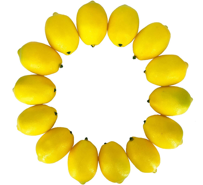 Realistic Fake Lemons set