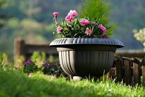 what to fill fake plant pots with